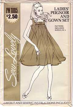 ladies peignoir and gown set pattern