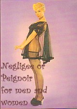 negligee peignoir for men or women, transsexuals, crossdressers