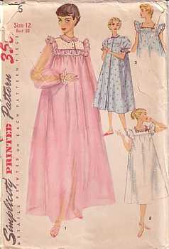 peignoir and nightgown set pattern 4936