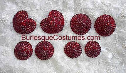 Heart shaped rhinestone pasties